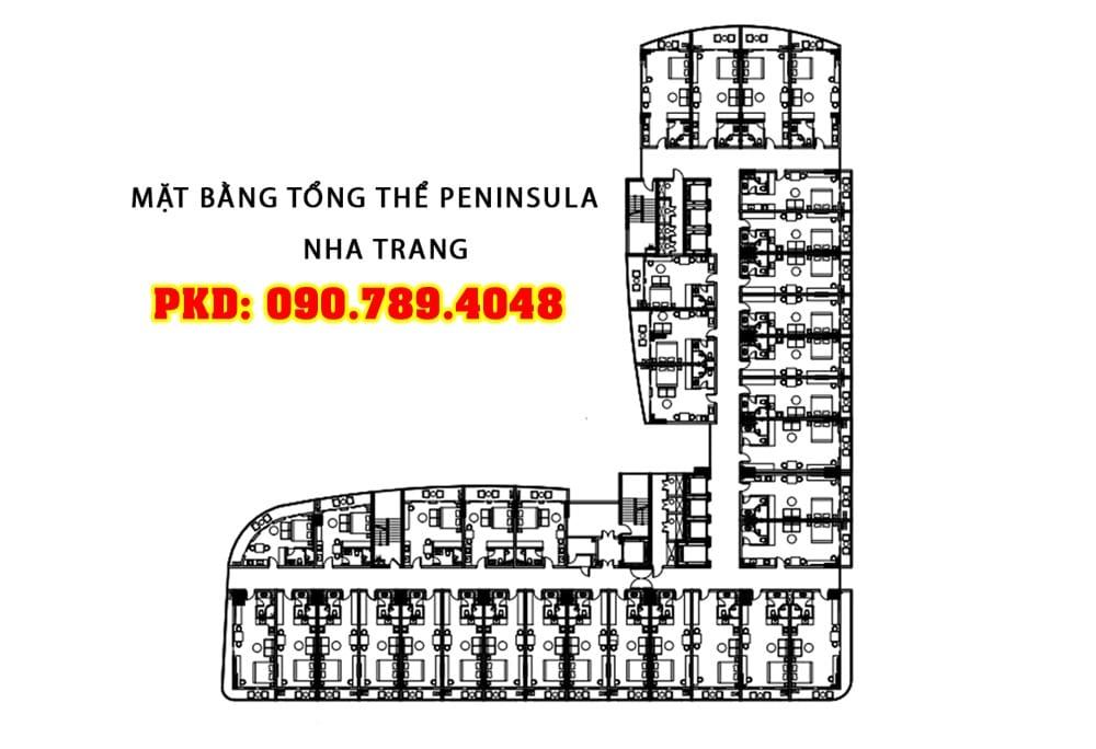 mặt bằng dự án căn hộ peninsula nha trang